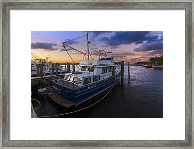 Good Fishing Framed Print by Debra and Dave Vanderlaan