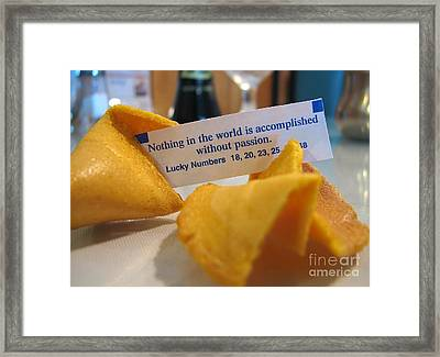 Good Fortune Framed Print by Peggy Hughes
