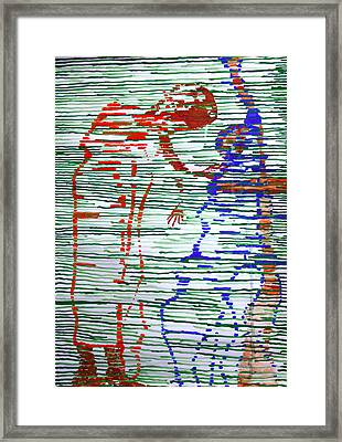 Good Friday - Jesus Meets His Mother On Calvary Framed Print by Gloria Ssali