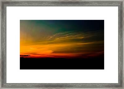 Good Friday Sunset Framed Print by Ronda Broatch