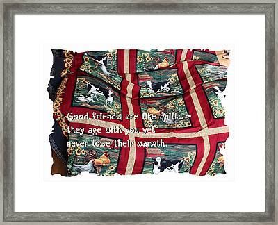 Good Friends Are Like Quilts Framed Print