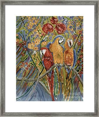Good Gossip Framed Print by Patricia Eyre