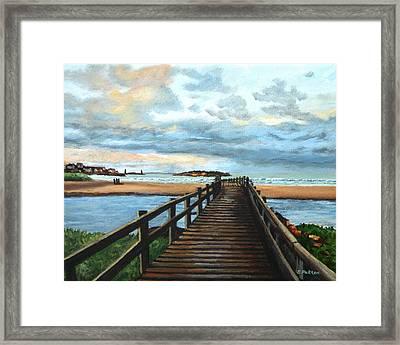 Good Harbor Beach Gloucester Framed Print by Eileen Patten Oliver
