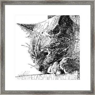 Good Kitty Framed Print