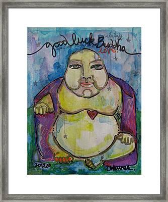 Good Luck Buddha Framed Print