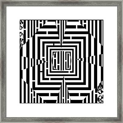 Good Luck Maze  Framed Print