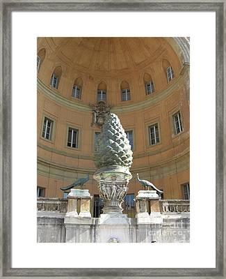 Good Luck Pineapple And Peacocks Framed Print by Deborah Smolinske
