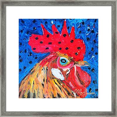 Good Luck Rooster Framed Print