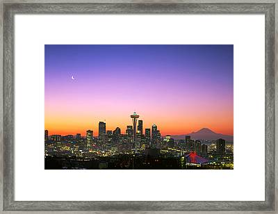 Good Morning America. Framed Print by King Wu