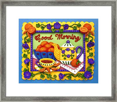 Good Morning Framed Print by Amy Vangsgard