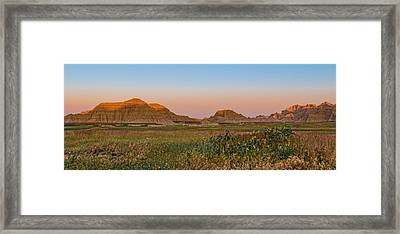 Framed Print featuring the photograph Good Morning Badlands II by Patti Deters