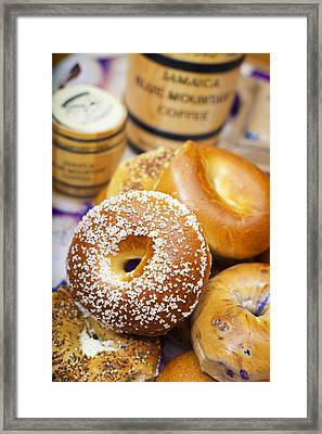 Good Morning Bagels Framed Print by Shanna Gillette