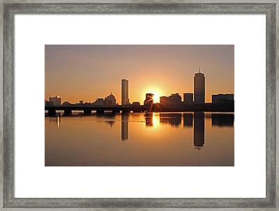 Good Morning Boston Framed Print