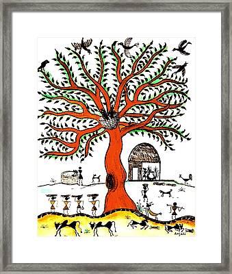 Good Morning Chirp Framed Print by Anjali Vaidya