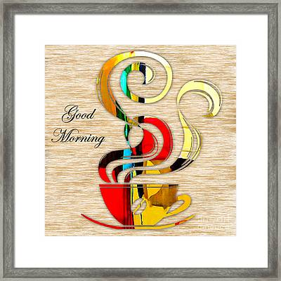 Good Morning Coffee Framed Print