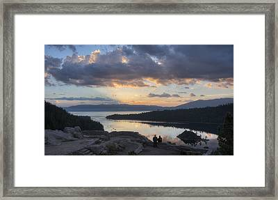 Good Morning Emerald Bay Framed Print by Peter Thoeny