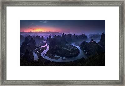 Good Morning From Damianshan - China Framed Print