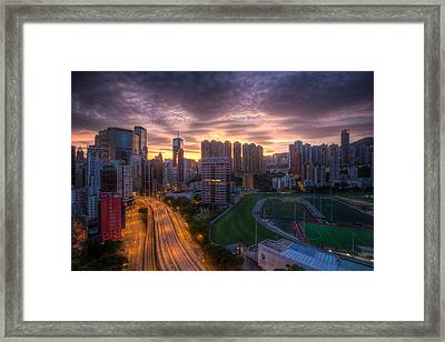 Good Morning Hong Kong Framed Print by Mike Lee