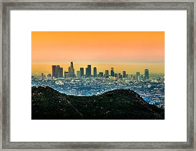 Good Morning La Framed Print by Az Jackson