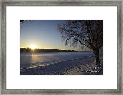 Good Morning Lapland 02 Framed Print by Arik Baltinester