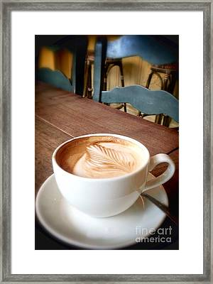 Good Morning Latte Framed Print