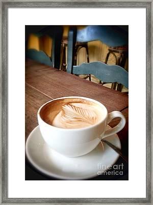 Good Morning Latte Framed Print by Susan Garren