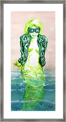 Good Morning Little Mermaid Framed Print by Del Gaizo