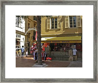 Framed Print featuring the photograph Good Morning Monaco by Allen Sheffield