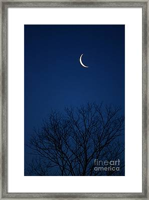 Framed Print featuring the photograph Good Morning Moon by Jay Nodianos