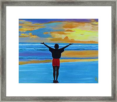 Good Morning Morning Framed Print
