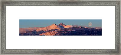 Framed Print featuring the photograph Good Morning Mr. Moon II by Silke Brubaker