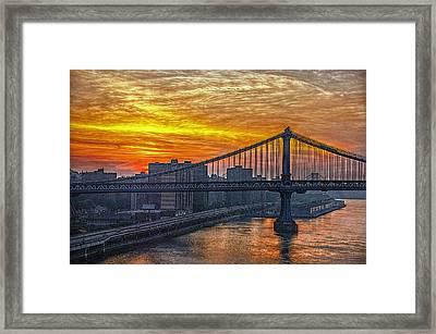Good Morning New York Framed Print