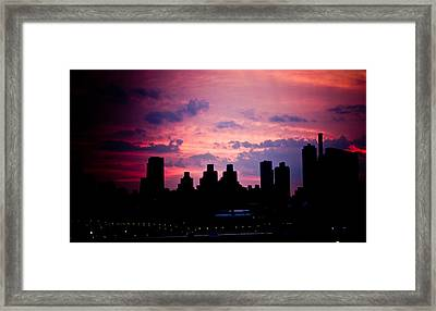 Good Morning New York Framed Print by Sara Frank