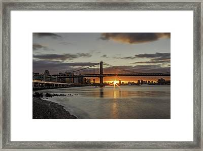 Framed Print featuring the photograph Good Morning Nyc  by Anthony Fields