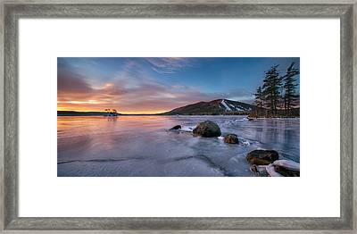 Good Morning Pleasant Mountain Framed Print by Darylann Leonard Photography