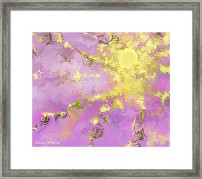 Framed Print featuring the digital art Good Morning Starshine by Linda Whiteside