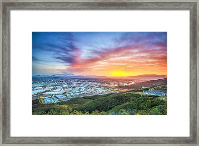 Framed Print featuring the photograph Good Morning Temecula by Robert  Aycock