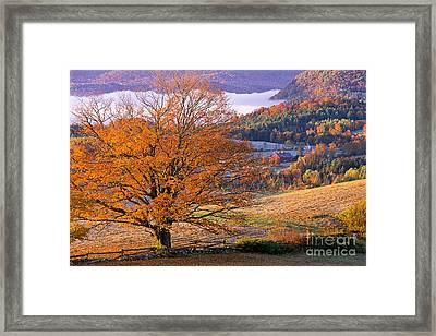 Framed Print featuring the photograph Good Morning Vermont by Alan L Graham