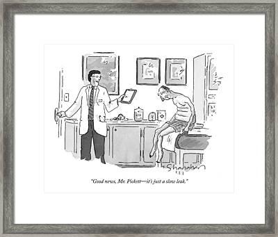 Good News, Mr. Pickett - It's Just A Slow Leak Framed Print by Danny Shanahan