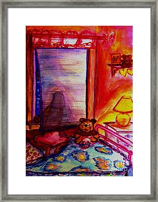 Framed Print featuring the painting Good Night Angels by Helena Bebirian