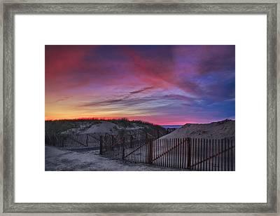 Good Night Cape Cod Framed Print by Susan Candelario