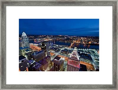 Good Night Cincinnati Framed Print