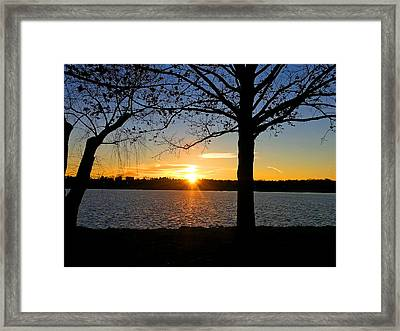 Good Night Potomac River Framed Print