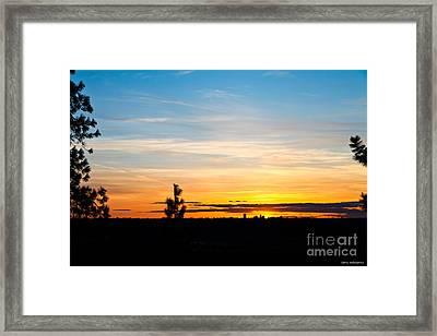 Good Night Spokane Framed Print by Chris Heitstuman