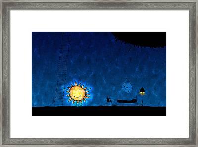 Good Night Sun Framed Print by Gianfranco Weiss