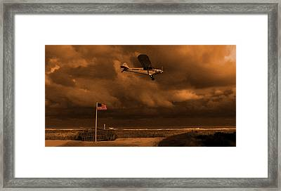 Good Night Wildwood Beach Framed Print