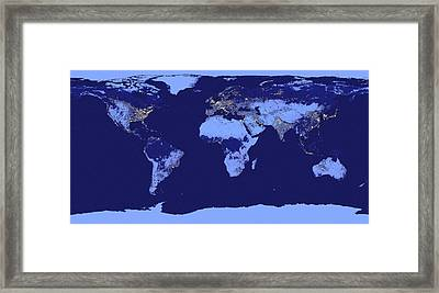 Good Night World Framed Print