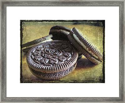 Good Old Oreos Framed Print by Barbara Orenya