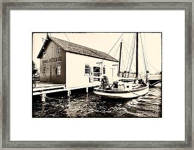 Good Old Oystering Times Framed Print by George Oze