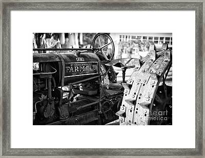 Good Old Tractor Framed Print by Thanh Tran